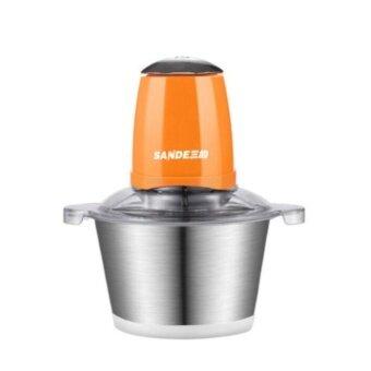 DJSHOP Kitchen-เครื่องบดสับ ผสมอาหาร โถสแตนเลส รุ่นใหม่ SD-JR02 (สีส้ม)