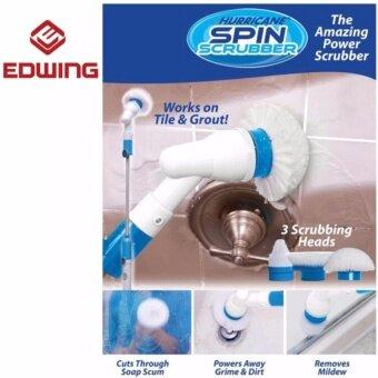 EDWING สุดยอดแปรงพลังเฮอริเคน Hurricane Spin Scrubber เป็นทุกอย่างให้เธอแล้ว ทั้งแปรงทำความสะอาด ไม้ถูพื้น ที่ขัดส้วม ขัดห้องน้ำ ที่สุดแห่งความสะอาด อุปกรณ์ยกชุดพร้อมหัวเปลี่ยน 3 แบบ ให้คุณประหยัดแรง ประหยัดเวลามากกว่า 10 เท่า