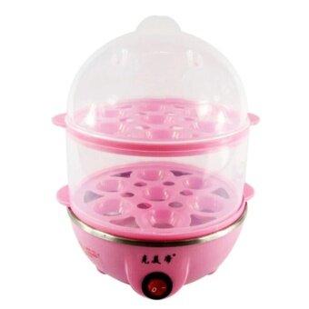 Egg Boilers เครื่องต้มไข่ หม้อนึ่งอเนกประสงค์ 2 ชั้น (Pink)