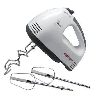 Electric 7 Speed Egg Beater Flour Mixer Mini Electric Hand Held Mixer (White)