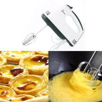 เครื่องผสมอาหาร เครื่องตีไข่ไฟฟ้า Electric 7 Speed Egg Beater FlourMixer Mini Electric Hand Held Mixer (White)(แถมฟรีที่แยกไข่ขาว) (image 1)