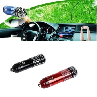 Fang Fang 12V Mini Auto Car Fresh Air Ionic Purifier Oxygen BarOzone Ionizer Cleaner New - red - intl