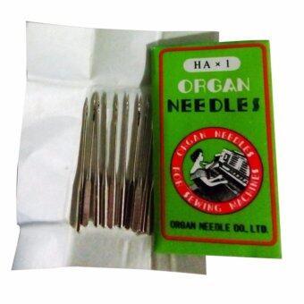 FD Premium เข็มจักรเย็บผ้า เข็็มเย็บผ้า ORGAN NO:14/90 (Pack/10Pcs,) Silver SEWING Needles Set รุ่น HLM155 (สี เงิน)