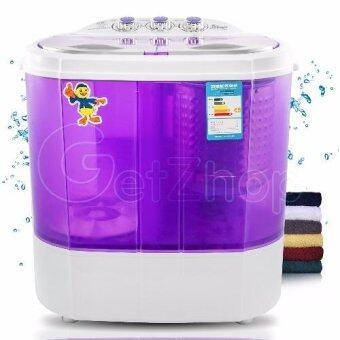 จัดโปรโมชั่น เครื่องซักผ้าเปิดฝาด้านบน Cleaning Machine แบบสองถัง ขนาดจุ 4 กิโลกรัม โมเดล XPB40-1288S - (สีม่วง)