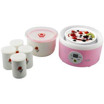 ขายด่วน GetZhop เครื่องทําโยเกิร์ตมัลติฟังก์ชั่น Yogurt Maker รุ่น TW-301C (Pink) แถมฟรี! แก้ว 4 ใบ