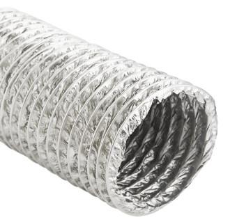 GFLOW ท่อระบายอากาศ ท่อลมอ่อน อลูมิเนียมฟอยล์ ชนิดยืดหยุ่น ท่อ 4 นิ้ว ยาว 10 เมตร