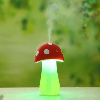 ต้องการขาย เครื่องฟอกอากาศอโรม่า Home Aroma Multifunction led bulbs LED withAir Diffuser Purifier Nice DC 5V Humidifier Mushroom NightLight(Red)