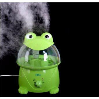 เครื่องเพิ่มความชื้นในอากาศสำหรับเด็ก และผู้เป็นภูมิแพ้-กบสีเขียว