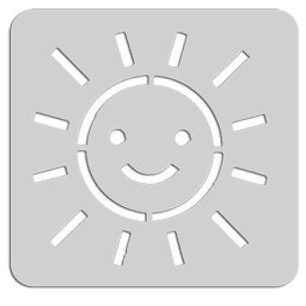 Summer แผ่นเพลทเครื่องปิ้งขนมปัง รูปพระอาทิตย์