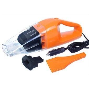 HS 100W Wet and dry Portable Car Vacuum Cleaner เครื่องดูดฝุ่นในรถยนต์ (Orange)