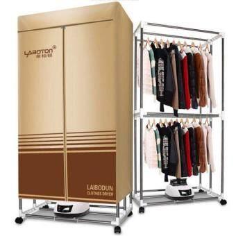 DJSHOP ตู้อบผ้า เครื่องอบผ้าแห้ง รุ่น LABOTON ความจุ 15KG (Brown)
