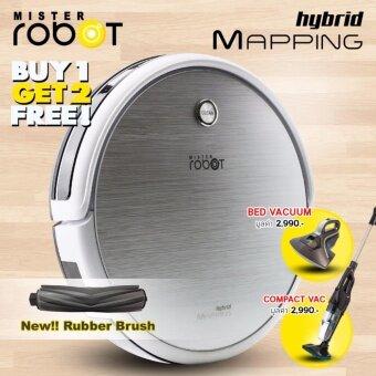 check ราคา Mister Robot รุ่น HYBRID MAPPING แถมฟรี!! เครื่องดูดไรฝุ่น + เครื่องดูดฝุ่น Compact Vac เช็คราคา
