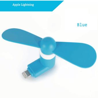 Center พัดลมมือถือ (Mini Fan USB) สำหรับ iPhone 5/ 5S /6/ 6plus/ 6S/ 6S plus (สีน้ำเงิน)