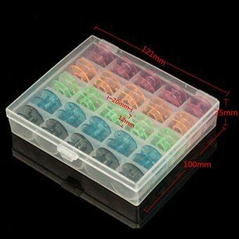 5 กล่องสีสันสดใสเปล่าหลอดด้ายจักรเย็บผ้าบราเดอร์ Babylock นักร้อง