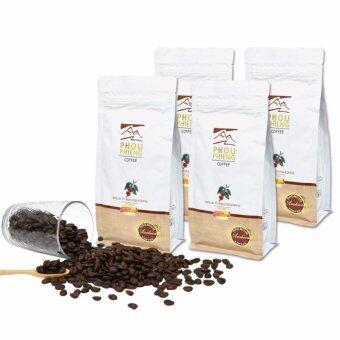 PHOU PHIENG เมล็ดกาแฟคั่วบดพิเศษ คั่วกลาง-เข้ม Specialty Medium-Dark Roasted Coffee (Ground) 100% Arabica (4 ถุง x 250g.)
