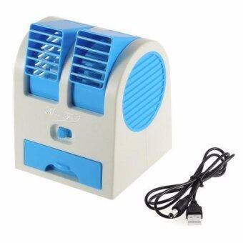 Sympathy พัดลมแอร์ USB Mini Fan Air Conditioning รุ่น HB-168 (สีเขียว)(Blue)