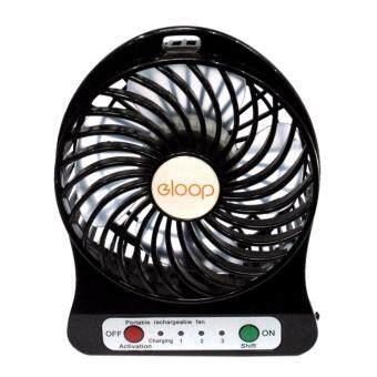 Eloop พัดลมพกพา Mini USB Fan (สีดำ)