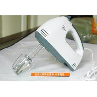 Tmall Electric 7 Speed Egg Beater Flour Mixer Mini Electric Hand Held Mixer (White) (image 3)
