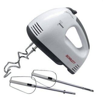 Tmall Electric 7 Speed Egg Beater Flour Mixer Mini Electric Hand Held Mixer (White)