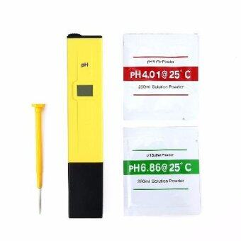 ปากกาวัดค่าความเป็นกรด-ด่าง pH มิเตอร์ ดิจิตอล พร้อม Buffer