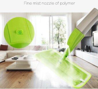 Harga New fashion spray mop Aluminium Pole Microfiber 360 rotating mop Multifunction rotate mops floor cleaning Tools (Green)