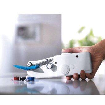 จักรเย็บผ้าไฟฟ้ามือถือ ขนาดพกพา Handheld Sewing Machine - White