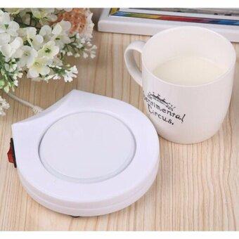 ๋๋JJ LIE เครื่องอุ่น ชา กาแฟ และ เครื่องดื่มร้อน พกพา Electronic Cup Warmer (White)
