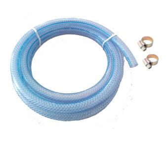 SCG สายยางนำแก๊ส บาง ยาว 1.5เมตร + เข็มขัดรัดสาย - ฟ้า