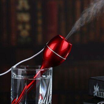 โอ้แก้วน้ำแบบพกพาตัวหมอกชื้นมินิล้ำเสียงเครื่องฟอกอากาศสีแดง