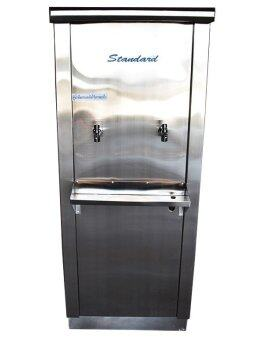 Standard By Rwcตู้ทำน้ำเย็นสแตนเลส ขนาด 2 ก๊อก 25 ลิตร ก๊อกชุบ / เกลียวทองเหลือง