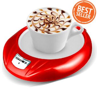 Electric Cup Warmer ที่รองแก้วไฟฟ้า สำหรับอุ่นกาแฟ ชา เครื่องดื่ม ( Red )