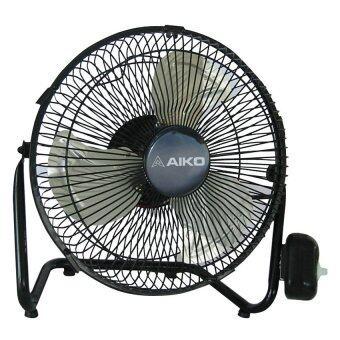 Aiko พัดลมเล็ก Turbo 10 นิ้ว AVF010 (สีดำ)