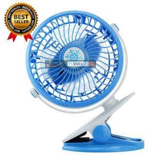 Lilry shop USB Clip Fan พัดลมหนีบ ขอบประตู/รถเข็นเด็ก ชาร์จได้/ใส่ถ่านได้ ปรับหมุนได้ 360 องศา