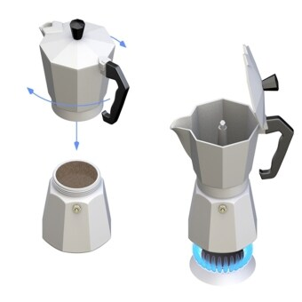 moka pot9 cupกาต้มกาแฟสดเครื่องชงกาแฟสด แบบพกพา ใช้ทำกาแฟสดทานได้ทุกที