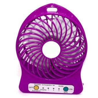 Lilry shop Mini fan พัดลมพกพาขนาดเล็ก ชาร์จสายUSB ใส่ถ่าน ลมแรง