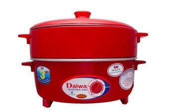 Daiwa กระทะไฟฟ้า รุ่น PN 9002 ขนาด 12 นิ้ว (สีแดง)