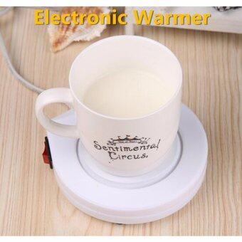 LIE เครื่องอุ่น ชา กาแฟ และ เครื่องดื่มร้อน พกพา Electronic Cup Warmer (White)