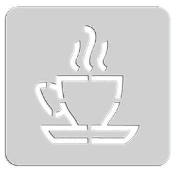Summer แผ่นเพลทเครื่องปิ้งขนมปัง รูปถ้วยกาแฟ