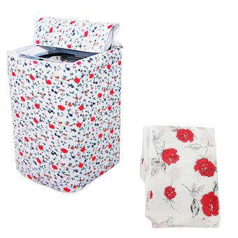 ซิปเสื้อกันน้ำเครื่องซักผ้าฝาครอบกันฝุ่น/การป้องกันเสื้อปกสีแดงดอกไม้