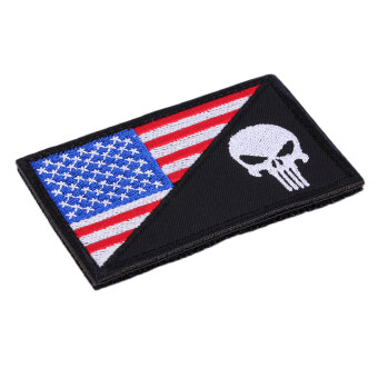 ธงสี่เหลี่ยมผืนผ้าปักยุทธวิธี...รอยคล้องไหล่ติดปลอกแขนสีแดง