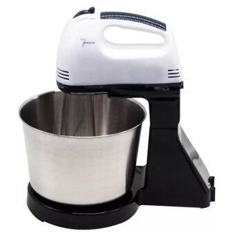 iremax Electric Mixer เครื่องผสมอาหารสแตนเลสคุณภาพสูง เครื่องผสมอาหารแบบมือถือ (white black)