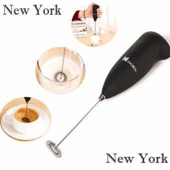 รีวิวสินค้า NEW YORK BIG SALE เครื่องตีฟองนมกาแฟ เครื่องตีไข่ No.005 - Black ขายดี
