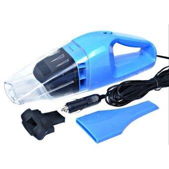 HS 100W Wet and dry Portable Car Vacuum Cleaner เครื่องดูดฝุ่นในรถยนต์ (Blue)