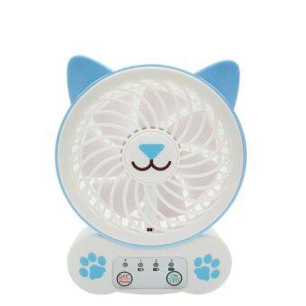 พัดลมพกพาปรับระดับ มีไฟฉาย แมว Cat USB Mini fan รุ่น F 641-Cat