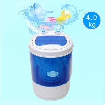JOWSUA เครื่องซักผ้ามินิ Mini Washing Machine - สีน้ำเงิน 4 KG