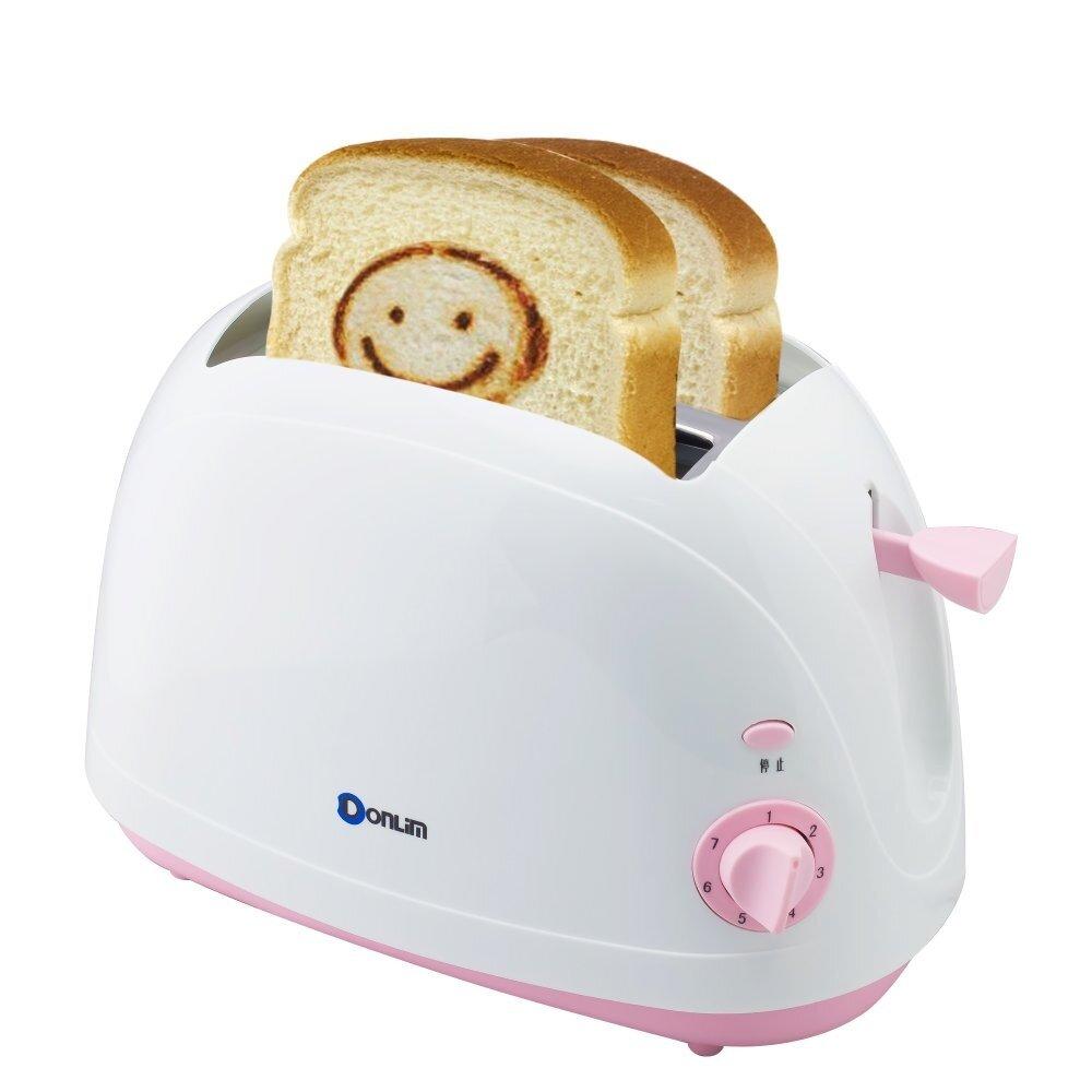 กระบี่ Getservice เครื่องปิ้งขนมปัง ลายอมยิ้ม Smiley Toaster Donlim รุ่น XB-8773 กำลังไฟ 750 Watt ( ขาว/ชมพู )