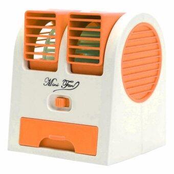 Mini USB Air Conditioning พัดลมแอร์ปรับอากาศแบบตั้งโต๊ะ - Orange