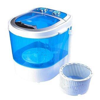 เครื่องซักผ้ามินิ mini washing machineเครื่องซักผ้าจิ๋วใช้ซักเสื้อผ้าจำนวนน้อย ชุดชั้นใน ถุงเท้าประหยัดไฟประหยัดน้ำ และประหยัดพื้นที่รุ่นใหม่ขนาด 3 กก