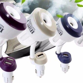 เครื่องเพิ่มความชื้น กลิ่นหอม ในรถยนต์ Nanum CAR II 2USB CombinedPurifiers & Humidifiers 12V Car Charger Nebulizer HumidifierMute Home Air Sterilization