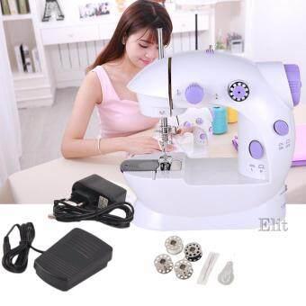 OMG จักรเย็บผ้าไฟฟ้า มินิ ขนาดพกพา Mini Sewing Machine - White